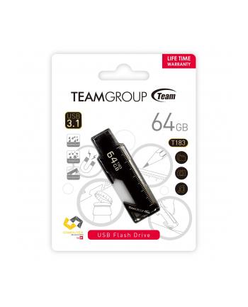 Team Group Pamięć USB T183 64GB USB 3.0 Czarna wielofunkcyjny design