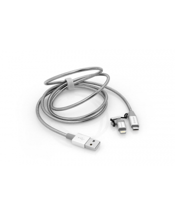 Verbatim 2in1 Lightning/Micro B Stainless Steel Cable Sync & Charge