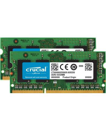 Crucial 16GB kit (8GBx2)DDR3L 1333MT/s CL9 SODIMM 204pin 1.35V/1.5V for Mac