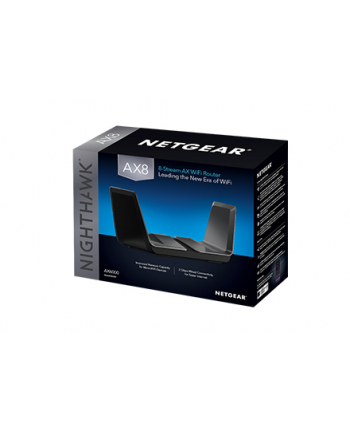 Netgear AX6000 Nighthawk AX8 8-Stream WiFi Router new 802.11ax (RAX80)