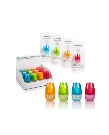 4World Zestaw czyszczący 50ml, szmatka 15x15, 12szt mix kolorów