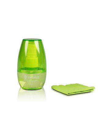 4World Zestaw czyszczący 50ml, szmatka 15x15, zielony