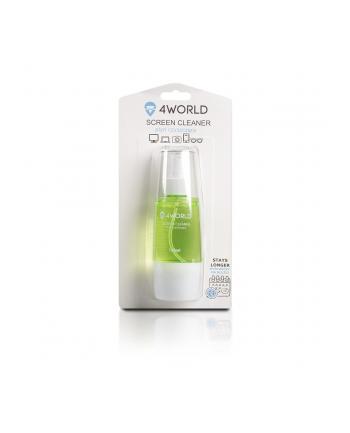 4World Zestaw czyszczący 150ml, szmatka 20x20, zielony