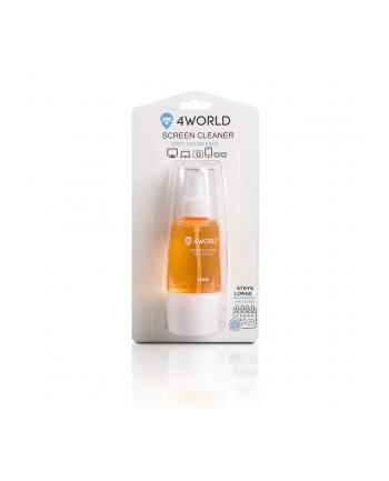 4World Zestaw czyszczący 150ml, szmatka 20x20, pomarańczowy
