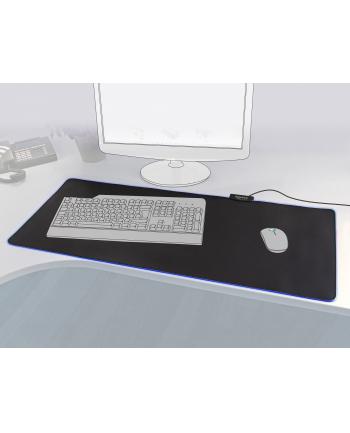 Delock Podkładka Pod Mysz 900 x 400 x 3mm Podświetlenie RGB