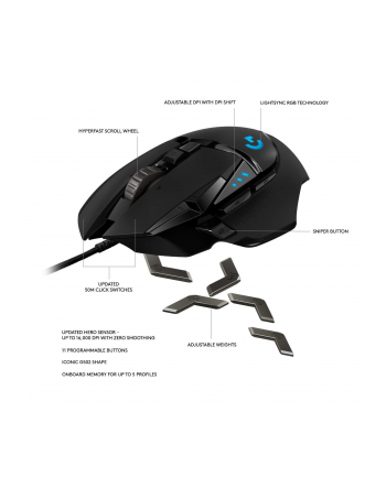 logitech G502 HERO High Performance Gaming Mouse-N/A-USB-N/A-EER2