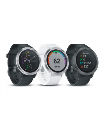 Garmin Vivoactive 3 (Rose Gold with White Silicone Band)