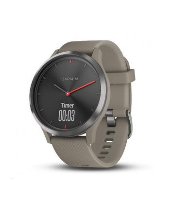 Garmin Vivomove HR Sport (Rose Gold with Sandstone Silicone Band)