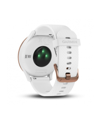 Garmin Vivomove HR Sport (Rose Gold with White Silicone Band)