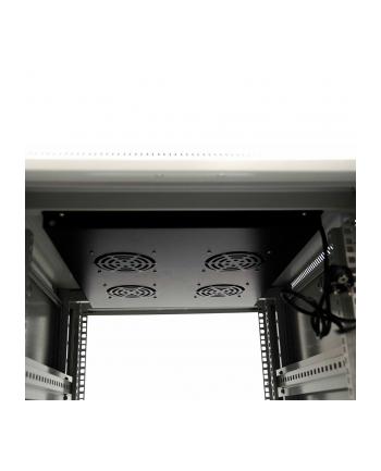 Netrack szafa serwerowa stojąca 22U/600x600mm (drzwi szklane)-szary ZŁOŻONA