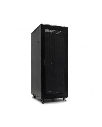 Netrack szafa serwerowa stojąca 32U/600x600mm (drzwi szklane)-czarny ZŁOŻONA