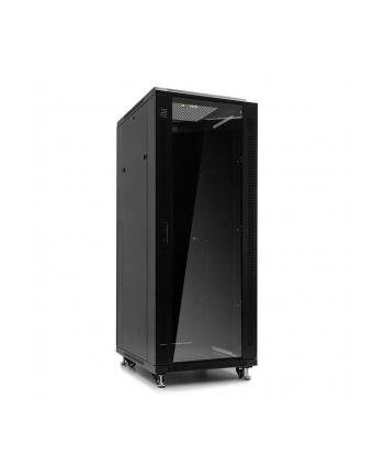Netrack szafa serwerowa stojąca 32U/800x800mm (drzwi szklane)-czarny ZŁOŻONA
