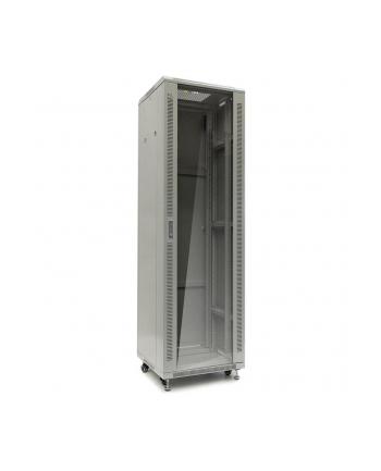 Netrack szafa serwerowa stojąca 42U/600x1000mm (drzwi szklane)-szary ZŁOŻONA