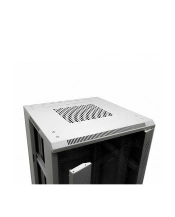 Netrack szafa serwerowa stojąca 42U/600x800mm (drzwi szklane)-szary ZŁOŻONA