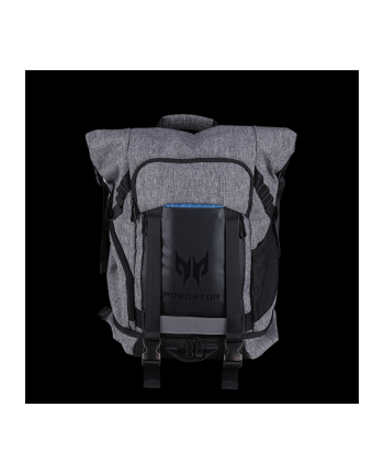 Acer PREDATOR GAMING ROLLTOP BACKPACK FOR 15'' NBs GRAY n TEAL BLUE (RETAIL PACK)