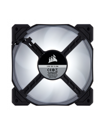 Corsair wentylator AF120 LED High Airflow Fan 120mm, low noise, single, white