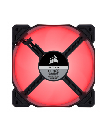 Corsair wentylator AF120 LED High Airflow Fan 120mm, low noise, single, red