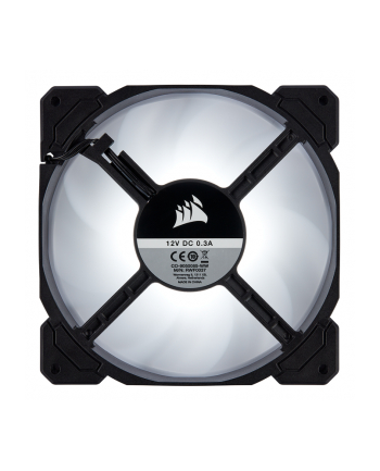 Corsair wentylator AF140 LED High Airflow Fan 140mm, low noise, single, white
