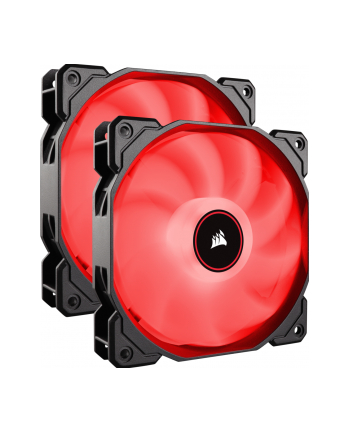 Corsair wentylator AF140 LED High Airflow Fan 140mm, low noise, dual, red