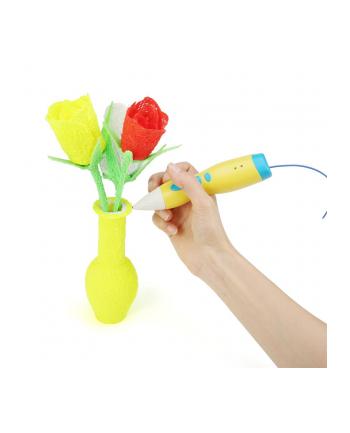 Gembird Długopis do druku 3D, 3D pen niskotemperaturowy, PCL filament, żółty
