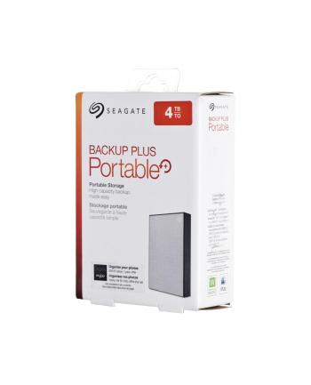 Dysk zewnętrzny Seagate Backup Plus Portable; 2,5'', 4TB, USB 3.0, srebrny