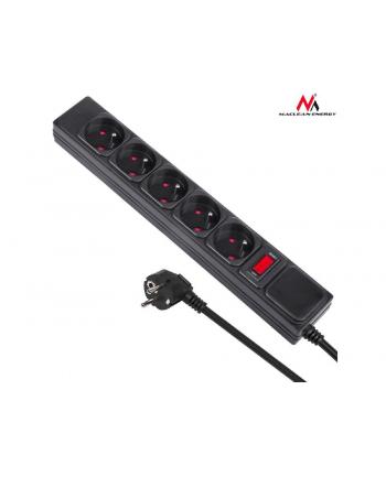 Maclean MCE219 Listwa zasilająca przedłużacz 5 gniazd 250VAC / 10A 1.5m