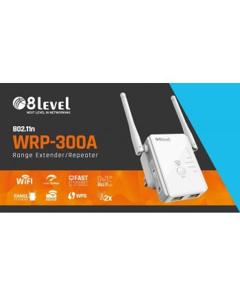 8level WRP-300A WiFi Repeater  300Mbps 802.11n, 1xWAN/LAN, 1xLAN, 2xantena