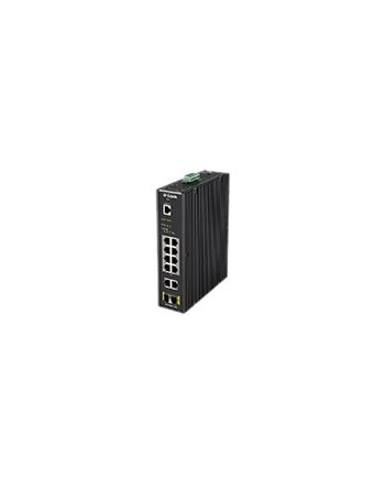 D-Link 12 Port L2 Industrial Smart Switch 10 x 1GBaseT (8 PoE 240W) & 2 X SFP