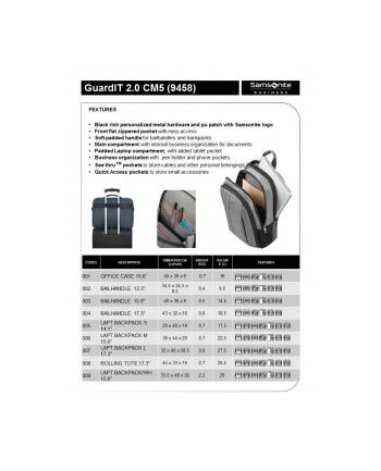 Plecak SAMSONITE CM501006 15,6'' GUARDIT 2.0 komp, doc.,tablet, kiesz, niebieski