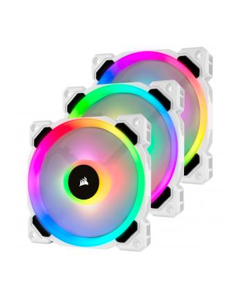 Corsair wentylator LL120 RGB LED Static Pressure, 120 mm, PWM, trójpak, biały