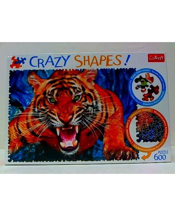 trefl Puzzle 600 Crazy Shap. OKO W OKO Z TYGRYSEM 11110.