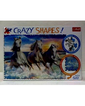 trefl Puzzle 600 Crazy Shapes GALOP WŚRÓD FAL 11111.