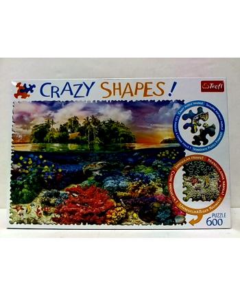 trefl Puzzle 600 Crazy Shapes TROPIKALNA WYSPA 11113.