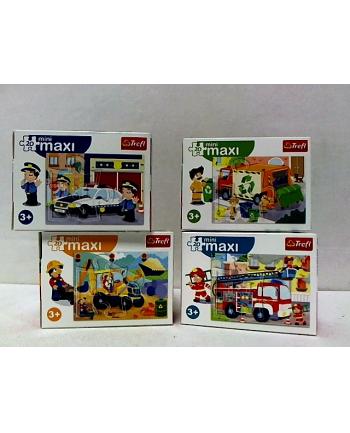trefl Puzzle miniMaxi 20 WÓZ STRAŻACKI,ŚMIECIARKA.56013.