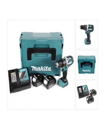 Makita DHP484RTJ - niebieski / kolor: czarny - MAKPAC, 2x Li-Ion Battery 5.0Ah