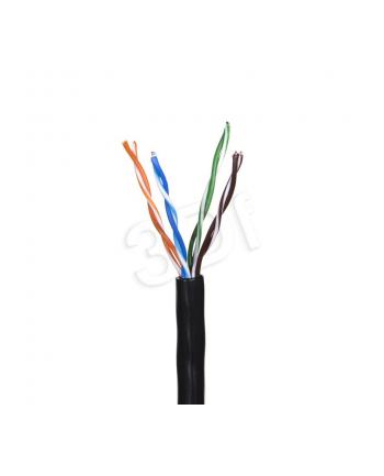 Kabel UTP Madex ( kat.5e 305m drut czarny 4x2x0.5 Ultralink 100% miedź zewnętrzny )