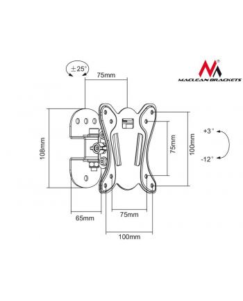 Uchwyt ścienny do telewizora Maclean MC-670 (ścienne  Uchylny - 27 ; max. 20kg)