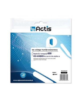 Tusz ACTIS KH-650BKR (zamiennik HP 650 CZ101AE; Standard; 15 ml; czarny)