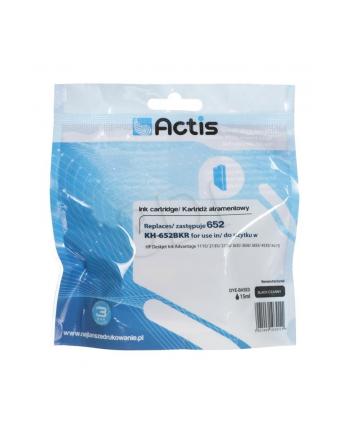 Tusz ACTIS KH-652BKR (zamiennik HP 652 F6V25AE; Standard; 15 ml; czarny)