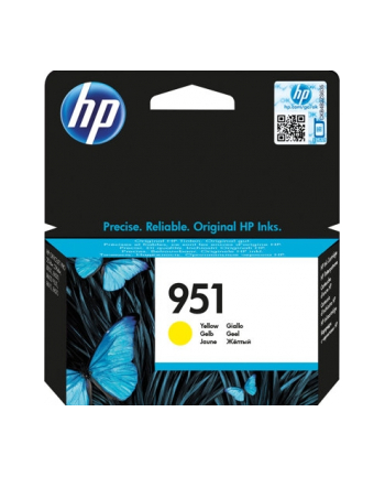 hewlett-packard Tusz HP CN052AE (oryginał HP951 HP 951; Standard; żółty)