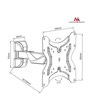 Uchwyt Maclean MC-741 (Obrotowy; 13  - 42 ; max. 25kg)