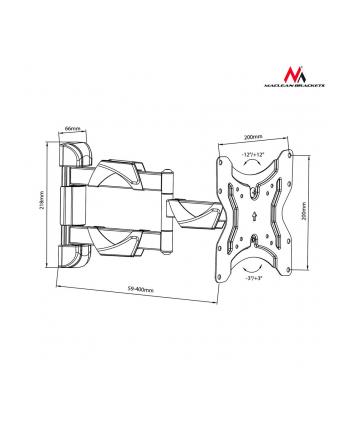 Uchwyt   ścienny    do telewizora  Maclean  MC-742 (Obrotowy  Uchylny; 13  - 42 ; max. 30kg)