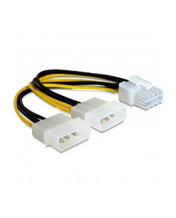 Kabel Akyga  AK-CA-29 (Molex 4-pin x 2 F - PCI-E 8-Pin M; 0 15m; kolor biały  kolor czarny  kolor żółty)