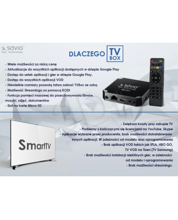 Odtwarzacz multimedialny SAVIO  TB-P01 (czarny)
