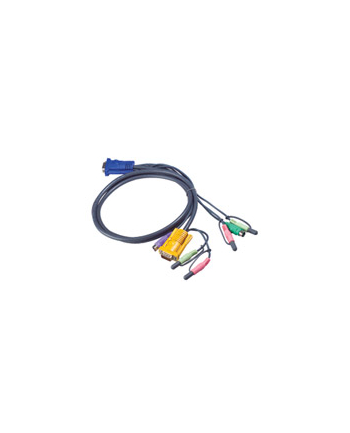 ATEN 2L-5305P Kabel HD15 - SVGA + myszPS + klawPS +  Audio 5.0m