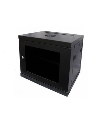 Szafy LMS DATA CAB-W9U-EL450 (9U; 460mm / 550mm / 450 mm; wisząca; Otwierane  Szklane; 19''; kolor czarny)