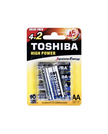 Baterie alkaliczne Toshiba LR6GCNP BP6 2F