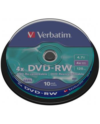 DVD-RW Verbatim 43552 (4 7GB; 4x; 10szt.; Cake)
