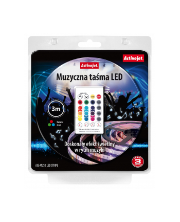 Taśma muzyczna LED Activejet AJE-LED Music Stripe (180 lm; RGB - Multikolor; 3m; 7 W; IP65)
