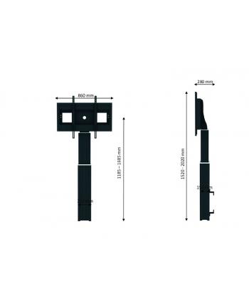 Uchwyt NEWSTAR PLASMA-W2500BLACK (100 )